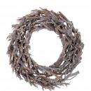 Wreath Kamil, D40cm, H9cm, white